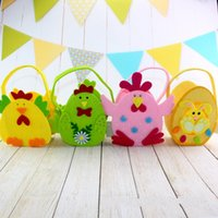 Wholesale chicken breast resale online - DIY Non Woven Fabric Storage Bags Easter Day Decoration Handbag Easy To Carry Chicken Rabbit Rabbit Bag jb BB