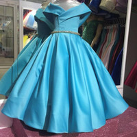 Wholesale tea clothes online - 2019 Vintage Flower Girls Dresses Baby Infant Toddler Baptism Clothes With Tutu Ball Gowns Birthday Party Dress Tailor Made From M To T