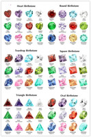 Wholesale lockets float charms for sale - Group buy 5MM birthday stone jewelry accessories fashion DIY birthstone round teardrop heart crystal zircon Floating Charms for Living Memory Locket