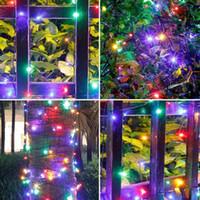 girlande lichter im freien großhandel-Led-feenhafte Solarschnur-Licht im Freien Garland Street Lights Dekoration Feiertag Garland Dekorative Festoon Für Gartenzaun 7-22m