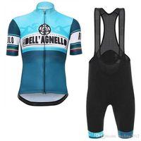ingrosso team jersey nero-2018 Tour De Italy Uomo Estate Ciclismo Maglia manica corta Camicia Abbigliamento Bicicletta Abbigliamento da Mtb Comodo Confortevole Traspirante Pantaloncini Set F2119