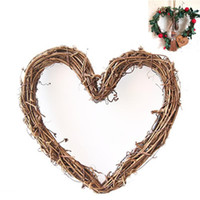 Wholesale candle diy for sale - Group buy Fashion Christmas Tree Ornaments Heart Shaped Hanging Light DIY Rattan Wreath String Lights Christmas Home Door Wall Decor