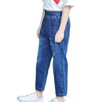 Wholesale infant denim pants resale online - 3 T Spring Autumn Toddlers Infant Kids Denim Pants Baby Stretch Waist Long Pants Trousers Bottoms