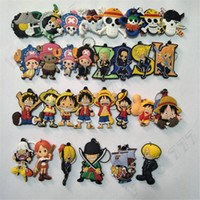 Wholesale one piece anime key for sale - Group buy Hottest Design Anime Keychain One Piece Keychain Keyring Gift Children s Toys PVC Key chain Kids toys