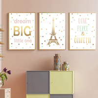 Wholesale painting baby girl resale online - Inspirational Quotes Posters And Prints Tower Canvas Painting Nursery Nordic Canvas Art Print Wall Pictures Baby Girl Room Decor