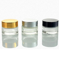 Wholesale gold silver pots for sale - Group buy 5g g g g Cosmetic Empty Jar Pot Eyeshadow Makeup Face Cream Container Bottle With Black Silver Gold Packing Bottles
