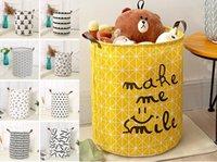 almacenamiento de la cesta de lavandería al por mayor-28 estilos plegable cubo de almacenamiento de la cesta stotage de gran tamaño para los mejores juguete caja de almacenamiento de lavado de ropa a prueba de agua baño sucios de los niños