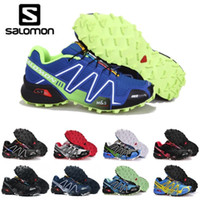 Wholesale new lower sports male for sale - Group buy 2019 New Salomon Speed Cross CS III Outdoor Male Camo Red Black Sports Shoes mens Speed Crosspeed running shoes zapatos hombre eur