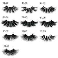Wholesale beautiful lashes resale online - High Quality The most popular Handmade25MM Mink eyelashes makeup mink lashes Soft natural false eyelashes With beautiful box