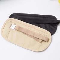 Wholesale hidden security for sale - Group buy Cloth Travel Pouch Hidden Wallet Passport Money Waist Belt Bag Slim Secret Security Useful Travel Bag