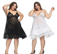 S-6XL Sexy Lingerie Lace Black Mesh Sexy Underwear Halter Plus Size Babydoll Lingerie Sexy Hot Erotic Women