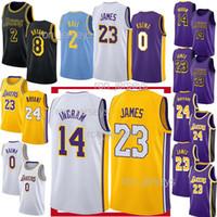 Wholesale basketball jerseys shorts resale online - 2018 promotion Los Angeles LeBron James Jerseys Laker Kobe Bryant Kyle Kuzma Lonzo Bal Kobe Bryant Jersey top