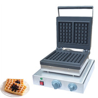 Wholesale waffle irons resale online - BEIJAMEI Commercial Waffle Machine Industrial Square Waffle Maker Stainless Steel Waffle Baker Iron Machine Bakery Equipment