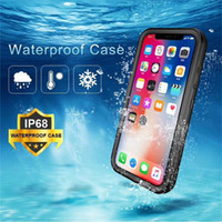Wholesale pink iphone case clear silicone for sale - IP68 Waterproof Cases For iPhone XR XS MAX PLUS For Samsung S10 PLUS S8 S9 P30 MATE PRO