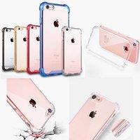 iphone 5s için zor tampon toptan satış-Şeffaf Darbeye Dayanıklı Hibrid Zırh Akrilik Tampon Yan Yumuşak TPU Geri PC Hard Case iphone X 8 7 6 6 S Artı 5 S 5SE 4