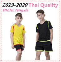 Wholesale baby boy sports suit summer resale online - 19 Summer Baby kids jersey Boys Girls Suits Kids Soccer Jersey Children Breathable Sport Outfit Sleeveless T shirts Short sleeve Kits