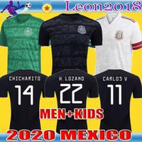 nueva jersey de futbol al por mayor-HOMBRE INFANTIL 2020 México Camiseta de Fútbol Nacional Nuevas camisas ausentes Blanca 20 21 Negro CHICHARITO LOZANO GUARDADO Carlos Vela RAUL Fútbol