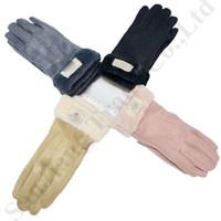 kış kayak eldivenleri toptan satış-Kadınlar Avustralya UG Parmak Eldiven Ins Moda Marka Tasarımcı Eldiven Bisiklet Kayak Sıcak Polar Eldiven Lüks UG Kış Eldiven Handwear C91104