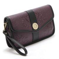 lila handgeldbeutel großhandel-Mode hochwertigem Material Damen Clutch Bag Deep Purple Big Hand Abendgesellschaft Frau Tote Geldbörsen Tageskupplungen Umschlag