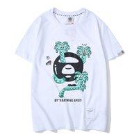 высокое качество tshirt оптовых-Летние горячие мужские дизайнерские футболки марки высокого качества пара футболки улица хип-хоп футболка роскошные модные повседневные футболка хлопок удобные футболки