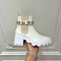 beuten für frauen groihandel-Designer Martin Stiefel weiße Farbe Cowboy Stiefeletten Designer Frauen Booties Highet Qualität 6cm Winter-Booties
