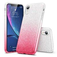 iphone renk degrade kutusu toptan satış-Iphone Xr Durumda Lüks Glitter Bling Degrade Renk Yumuşak TPU Iphone XR XS Max Için Arka Kapak Telefon Kılıfları Max