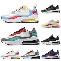 erkek optik toptan satış-Nike Air Max 270 React Erkekler Koşu Ayakkabıları Kadın Erkek Eğitmenler Atletik Spor Sneakers 40-45