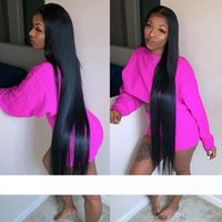 Wholesale 28 human hair lace wigs resale online - 30 Inch Long Human Hair wig Lace Front Wigs For Black Women Virgin Brazilian Glueless Long Straight In Full Lace