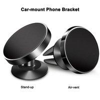 car phone holder großhandel-Magnetic Car Mount Handyhalterung 360-Grad-Drehung Stand-Up / Belüftung