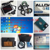 Wholesale For b enz MB star c4 and alldata and for bmw icom next and vas a in laptop toughbook cf soft ware hdd tb obd full set