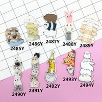 Wholesale brooch packaging resale online - Acrylic Brooch Pins Cat Dog Giraffe Rabbit Brooches Women Men Jewelry Shoes Package Clothes Accessories Japan Harajuku Badges