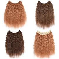 afro kinky kıvırcık insan saçı örgüleri toptan satış-Sara Kadın Brezilyalı Kıvırcık Saç 100% Gerçek İnsan Saç Doğal Dokuma Afro Kinky Kıvırcık Saç Uzantıları SiyahKahverengi Postiş 36 CM, 14 Inç