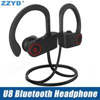 Wholesale sport heads for sale - Hot Bluetooth Headset V4 Ear Hook Headphone Earbuds B Wireless Sweatproof Sport Earphone head ear phone for iPhone X Samsung
