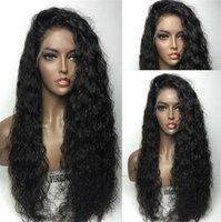 ingrosso parrucca ricci brasiliana afro kinky-7A parrucche piene del merletto dei capelli umani parrucche brasiliane ricci crespi del merletto anteriore dei capelli umani per le donne nere 130% densità parrucca riccia crespo afro