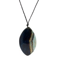 gemas naturais diamante venda por atacado-Natural criativo gem jóias artesanais multicolor diamante ágata colar de pingente de corda de couro por atacado