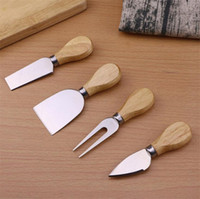 Wholesale cheese cutting for sale - Group buy Useful Cheese Tools Set set Oak Handle Knife Fork Shovel Kit Graters For Cutting Baking Cheese Board Sets Butter Pizza Slicer Cutter