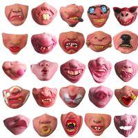 máscaras de rosto venda por atacado-23 Projetos mascarada máscara meia máscara facial divertido festa de halloween máscara fantasia bola máscaras adereços desempenho decoração festiva falso fa EEA439
