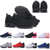 Wholesale fashion shox online - High Quality Shox Deliver Men Women Running Shoes Muticolor Fashion Black Red Gold Blue White DELIVER OZ NZ Athletic Sports Sneakers