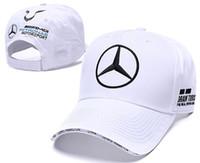 Wholesale trucker cap resale online - hot Sale Mercedes Benz cap bone gorras Snapback Hat Champion Racing Sports AMG Automobile Trucker Men Adjustable Golf Cap Sun Hat