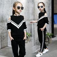 ingrosso i capretti coreani di moda abbigliamento-bambini designer ragazze moda ragazze tuta casual abbigliamento boutique 2019 coreano scollo av filo ragazzi d ragazze abbigliamento infantile indumenti bambino