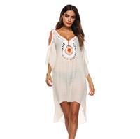 bluz elleri toptan satış-Kadın Amazon yeni seksi bikini bluz el kanca dikiş Ajur straplez elbise A1917