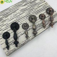 antik topuz çeker toptan satış-2 Adet Antik kolye Kabine Kolları ve Kolları Dolap Kapı Dresser Çekmece Kolları Mutfak Dolap Kolu Çeker