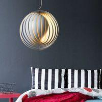 lua pingente de luz venda por atacado-Criativas ajustáveis Lua Ferro Lâmpadas Pingente Geometria Pingente luzes para sala de estar Quarto Cozinha Home Decor Lighting R50