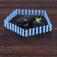 ingrosso piante di terrario-1 pz Miniatura Piccola recinzione in legno Fairy Garden Micro casa delle bambole Pianta in vaso Decor Bonsai Terrario Accessori da giardino in miniatura fai da te