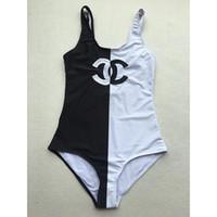 kadınlar siyah tek parça mayolar toptan satış-Lüks F Mektup Marka Siyah Kahverengi Bikini Kadınlar için Mayo Seksi Mayo Bodysuit Beachwear Yaz tek parça Seksi Bayan Mayo