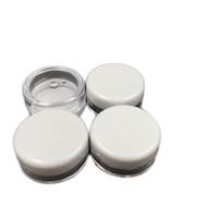 kostenlose musterpakete großhandel-Freies Verschiffen weißes Sahneglas des Deckel-5ML PS, mini kosmetische Sahnebeispielflaschen-Behälter-Schaukasten-Kosmetik, die mini Plastikflasche 5g verpackt