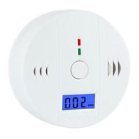 carbon monoxide alarm al por mayor-Detector de advertencia de alarma de monóxido de carbono de CO Detector Detector de gas Gas Envenenamiento Detectores Pantalla LCD Vigilancia de seguridad Alarmas de seguridad en el hogar