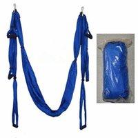 yoga swing toptan satış-Toptan-Hava Yoga Hamak Paraşüt Kumaş Salıncak Inversiyon Terapi Anti-yerçekimi Yüksek Mukavemetli Hamak Yoga Salonu Asılı YHM001