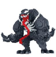 3d eldivenler toptan satış-Enerji taş ile 3910 adet Elmas thonas eldiven ve uzun dil marvel Venom 3d model yapı kitleri Mirco tuğla blokları çocuklar oyuncak
