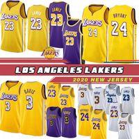 camisolas de basquete mais quentes venda por atacado-Los Angeles Lakers 23 LeBron James 3 Anthony Davis camisas 30 Troy Daniels 24 Kobe Bryant 0 Kyle Kuzma 2 Lonzo Ball 14 Brandon Ingram kID Basketball Hot Jerseys